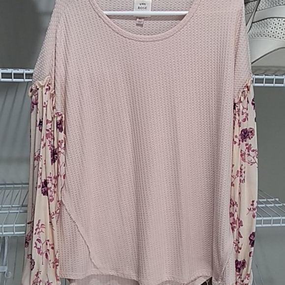 Knox Rose Sweaters - Light pink sweater top Knox Rose xl